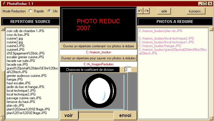 capture �cran de PhotoR�duc 1.1